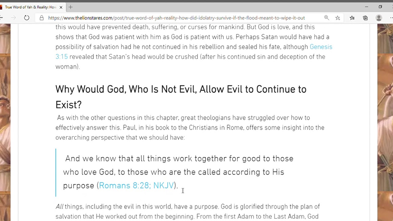 True Word of Yah & Reality  How Did Idolatry, Evil, Sin Survive If The Flood Meant To Wipe It Ou
