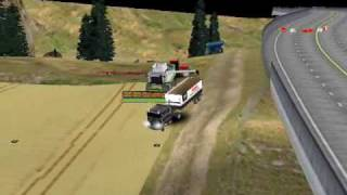 SimTractor v4 Weat harvest