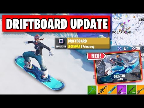 ENDLICH DA - Driftboard Update 🏂 | Fortnite Snowboard Gameplay Deutsch thumbnail