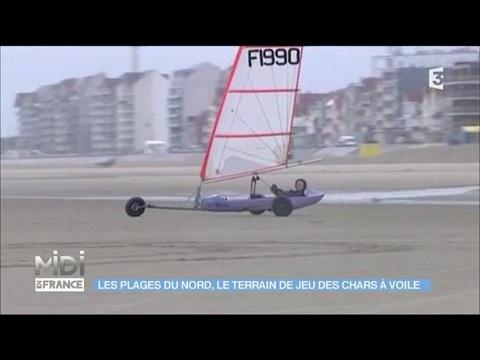 Les Plages Du Nord Le Terrain De Jeu Des Chars A Voile Youtube