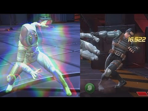 Ghost VS Realm Of Legends Winter Soldier & Captain Marvel - Marvel Contest Of Champions