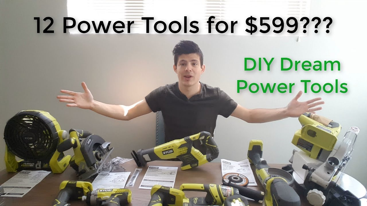 Ryobi 18 Volt One Lithium Ion Cordless Combo Kit 12 Piece Tool Unboxing And Initial Review