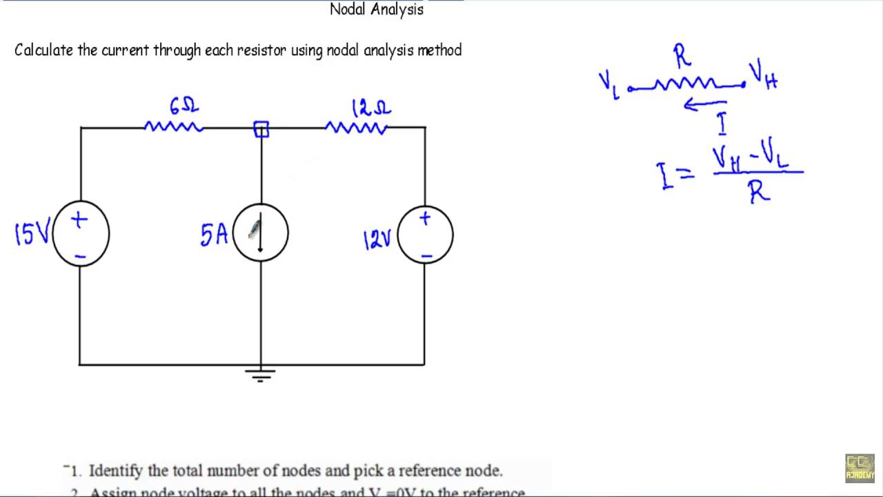 nodal analysis with current source