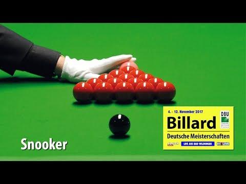 Livestream Snooker - Deutsche Meisterschaften 2017 Tag 5 powered by REELIVE & Touch