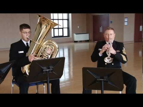 """Navy Band Brass Quartet - """"The Stomping Sailors March"""""""