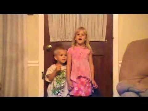 Sommer kids sing Hebrew Alef-Bet