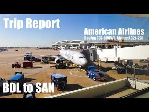 TRIP REPORT - American Airlines (B737-800, A321-231) Hartford CT to San Diego CA