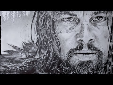 Hyperrealistic Art – Drawing Leonardo DiCaprio – The Revenant Movie