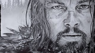 Hyperrealistic Art - Drawing Leonardo DiCaprio - The Revenant Movie