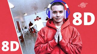 J Balvin - Rojo ◄8D AUDIO►  (Letra/Lyrics)