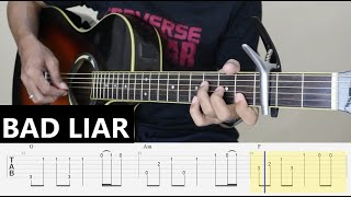 (Anna Hamilton version) - BAD LIAR - Fingerstyle Guitar Tutorial TAB