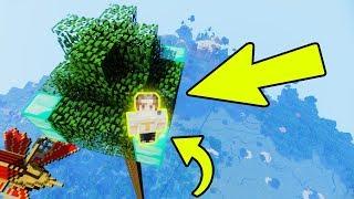 САМОЕ ВЫСОКОЕ ДЕРЕВО В МАЙНКРАФТ l КАК ОНО ПОЯВИЛОСЬ? l СПАСЕТСЯ ЛИ НУБ ОТ ПАДЕНИЯ В Minecraft