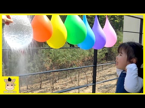 Thumbnail: Learn Colors with Balloons Baby Nursery Rhymes Song Bad play Learn colors for kids MariAndKids Toys