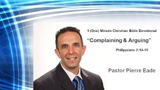 1 One Minute Christian Bible Devotionals with Pastor Pierre Eade and my daughter Olivia   Give Up Co