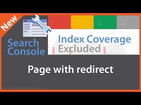 Page with Redirect - Google Search Console Index Coverage Excluded Reports