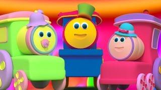 บ๊อบรถไฟ   ครอบครัวนิ้ว   เพลงโรงเรียนอนุบาล   Bob The Train   Finger Family Song   Baby Rhyme