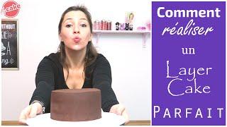 Monter un Layer Cake - Comment couper, fourrer et couvrir un gâteau de Cake Design - MyCake