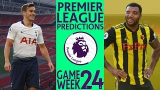EPL Week 24 Premier League Score and Results Predictions 2018/19