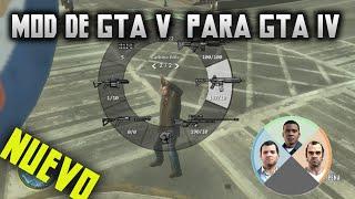 Mod de GTA V para GTA IV -Cambio de Personaje -Embestida y mas!