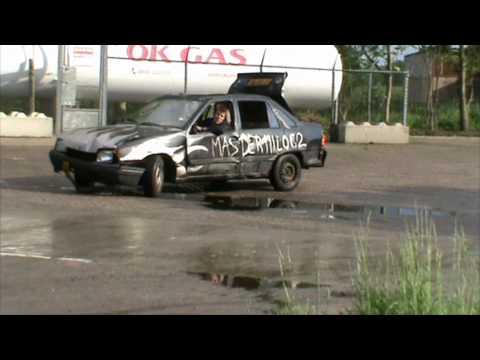 Opel Kadett engine blow & fire