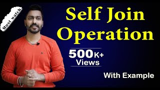lec-33: Self Join operation with Example  Database Management System