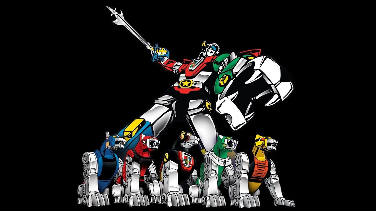 It is a graphic of Striking Images of Voltron