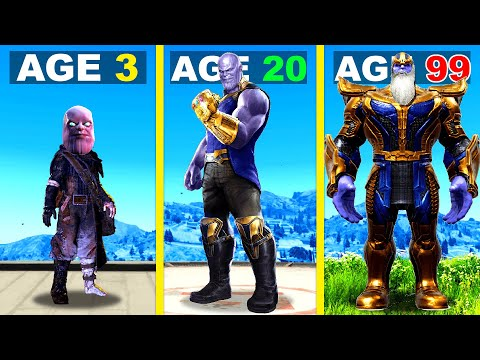 Surviving 99 YEARS As THANOS In GTA 5 ...