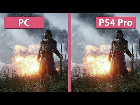 4K UHD | Battlefield 1 – PC Max 4K vs. PS4 Pro 4K Mode Graphics Comparison