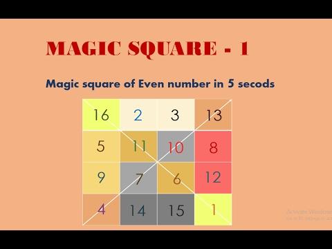 Magic Square- 1 | Magic square 4x4 | Magic square 6x6 (Hindi/Urdu)