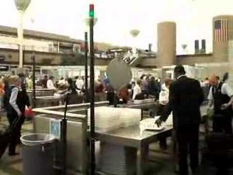 Going through TSA security at Denver International Airport