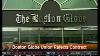 Boston Globe Union Rejects Contract - Bloomberg