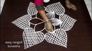5x3 dots beautiful dhanurmasam muggulu || Margazhi kolam by easy rangoli Suneetha