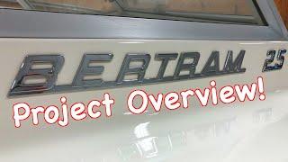 Project Overview For Bertram Moppie 25 Restoration