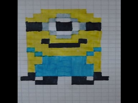 Bien connu COMMENT FAIRE UN MINION/FIS PIXEL ART/PIXEL ART - YouTube XP09