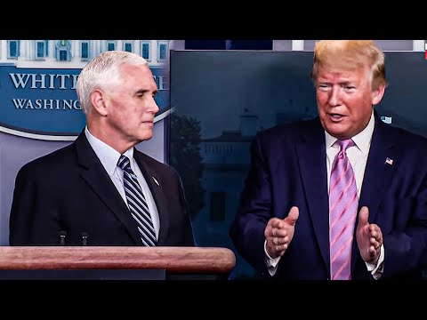 Trump Congratulates Pence For BSing Reporter's Question