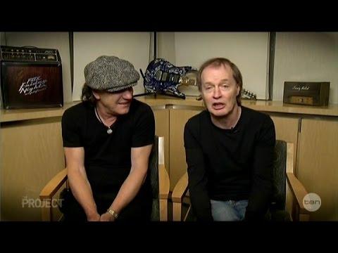 "AC/DC Brian Johnson & Angus Young ""Big Balls"" Australian Tv Interview 28-11-2014"