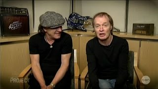 "AC/DC Brian Johnson & Angus Young ""Big Balls"" Australian Tv Interview 28-11-2014"