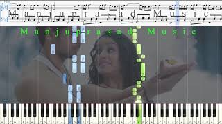 Teri Galliyan - Ek Villan Intermediate  | MIDI | SHEET | Manjuprasad Music | Manjuprasad on Piano