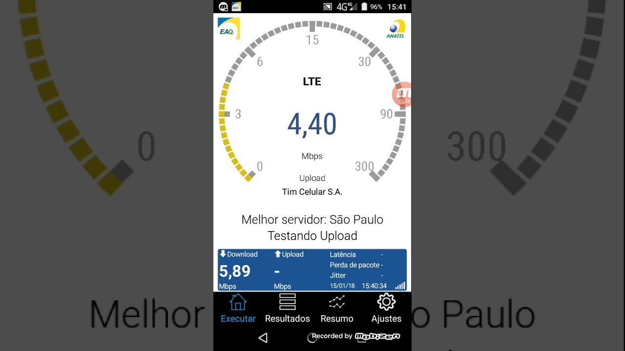 como medir a velocidade da internet pelo celular