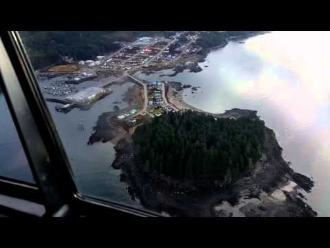 Fly by of port simpson b.c /Lax kw'alaams
