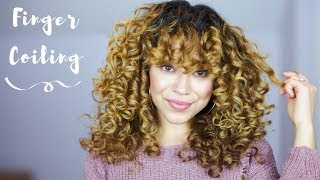 Finger Coiling For Perfect Spirals! | Curly & Wavy Hair