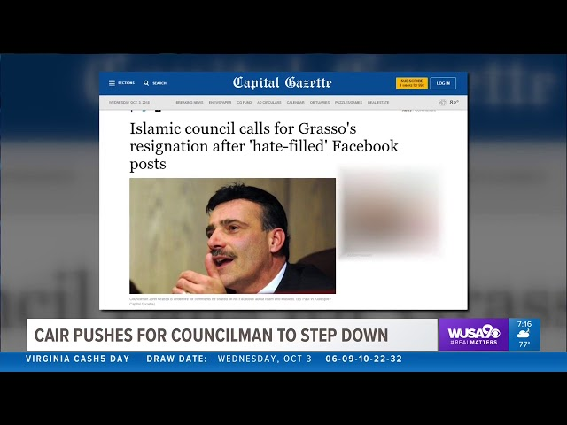Video: CAIR Calls on Islamophobic Maryland Official to Step Down