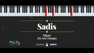 Sadis (MALE KEY) Afgan (KARAOKE PIANO)