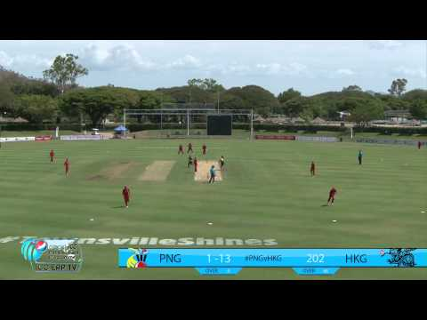 PNG v Hong Kong Highlights ODI #1 - Townsville 8/11/14