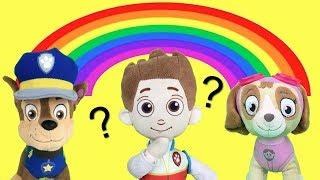 Juguetes paw patrol español:bebes! aprender colores arcoiris patrulla canina.Nuevo capitulo 2018