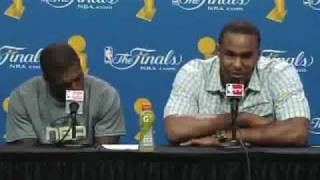"Glen ""Big Baby"" Davis and Nate Robinson Postgame Interview"