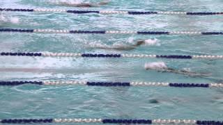 2014年學界女甲50米蝶式游泳比賽