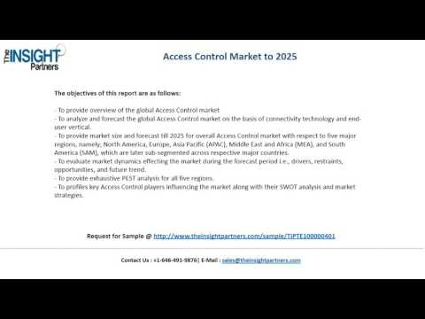 Global Access Control Market Growth, Trends and 2025 Forecasts Report
