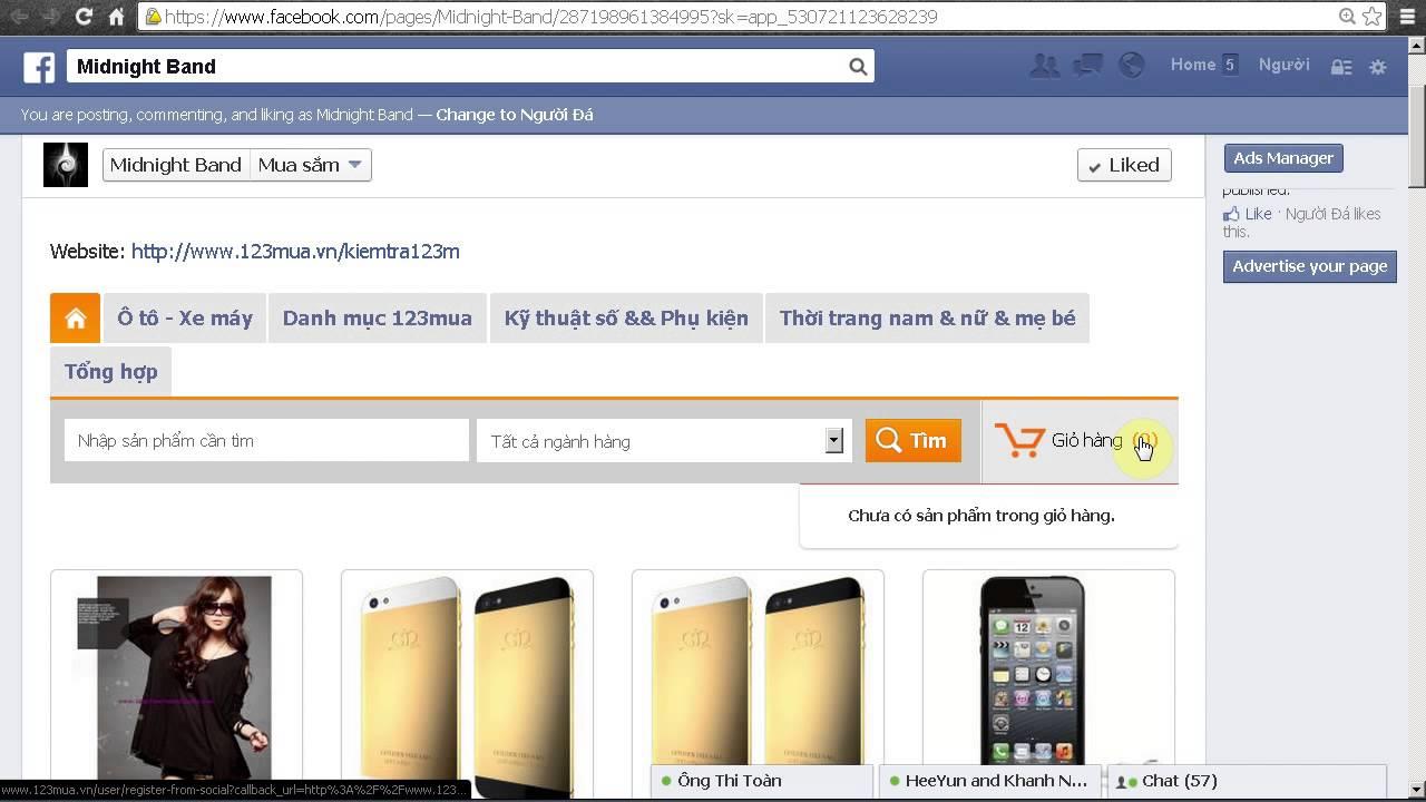 Sử dụng 123Mua Facebook Store để kinh doanh bán hàng trên Fanpage