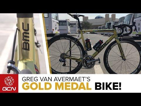 Greg Van Avermaet's Custom GOLD BMC Teammachine SLR01